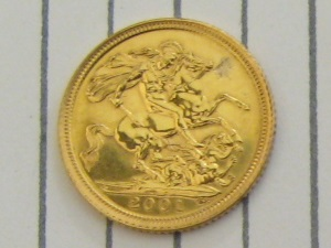 Half Sovereign - Sold for £75