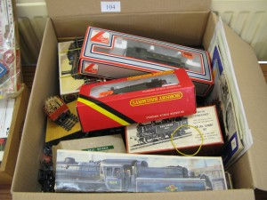 Lot 104 - collection of toy trains from Hornby, Lima and Airfix. Sold for £30.