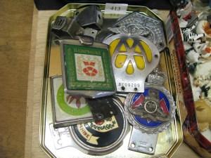 Lot 413 - Car badges - Sold for £45