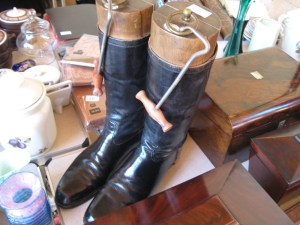 Lot 197 - Cavalry Boots and stretchers. Sold for £85