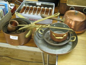 Lot 127 - Large collection of Copper Pans