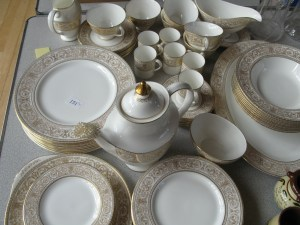 Lot 151 - Doulton dinner service - Sold for £40