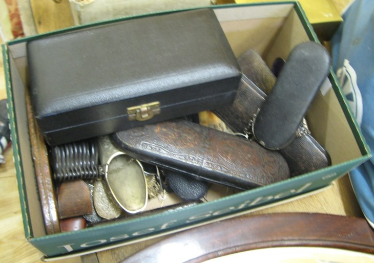 Box of lunettes, spectacles and other optical items - Sold for £300