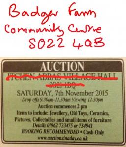 Hampshire Chronicle correction Badger Farm