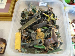 Lot 86 - Collection of toy military figures - Sold for £40