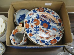 Lot 32 - Box of oriental china - Sold for £37