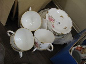 Lot 35 - Crown Derby tea seat -Sold for £35