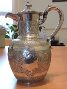 Lot 228 - Jug Edinburgh 1879 Marshall & Sons APP 489.5 grams - Sold for £130