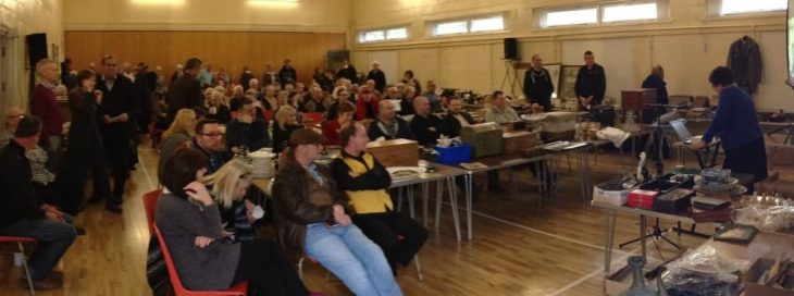 Full auction room at Badger Farm