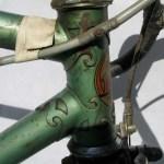 A S Gillott frame steering tube lugs