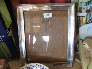 Lot 341 - Silver picture or photo frame - Sold for £65