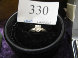 Lot 330 - 9 ct White gold dress ring - Sold for £30