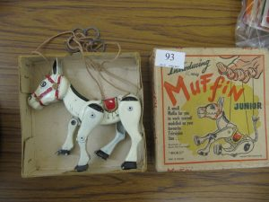 Lot 93 - Junior Muffin the Mule puppet in original box - Sold for £35