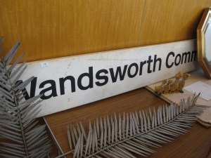 Lot 74 - British Railways - Wandsworth Common station sign - Sold for £40