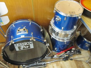 Lot 558 - Drum Kit and Stool - Sold for £35