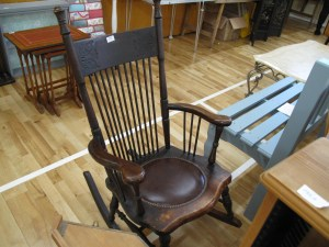 Lot 223 - Colonial American rocking chair - Sold for £40