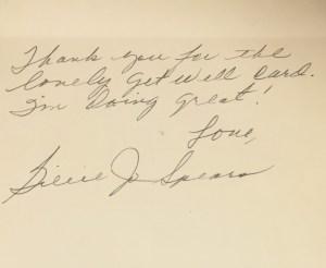 Letter from Billie Jo Spears