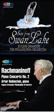 TCHAIKOVSKY: Swan Lake Suite; RACHMANINOFF: Piano Con. 2 – both Philadelphia Orch. & Ormandy – HDTT audio-only Blu-rays
