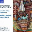 TANEYEV:  Complete String Quartets, Vol. 4 = Quartet No. 9; Quartet No. 6 – Carpe Diem String Q. – Naxos