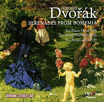 DVORAK: Serenades from Bohemia = Piano Octet, Serenades for strings and woodwinds – Czech Nonet/ Ivan Klansky (p.) / Pavel Huela, Vladimir Klansky (vlns.)/ Academy of St-Martin/Marriner – Praga Digitals