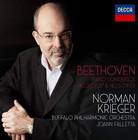 BEETHOVEN: Piano Concerto No. 3 & No. 5 – Norman Krieger, piano/ Buffalo Philharmonic Orchestra/ JoAnn Falletta – Decca