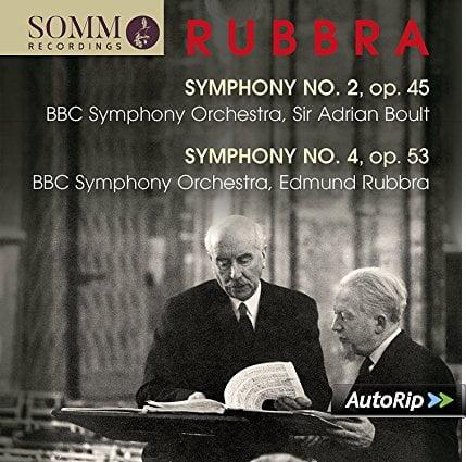 RUBBRA: Symphony No. 2 in D; Symphony No. 4 – BBC Symphony Orchestra/ Sir Adrian Boult/ Edmund Rubbra) – Somm