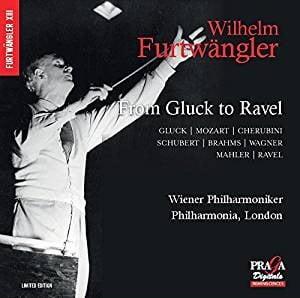 Wilhelm Furtwängler: From Gluck to Ravel = Works by GLUCK; MOZART; CHERUBINI; SCHUBERT; BRAHMS; WAGNER; MAHLER; RAVEL – Dietrich Fischer-Dieskau, baritone/ Philharmonia Orchestra of London/ Vienna Philharmonic Orchestra/ Wilhelm Furtwängler – Praga