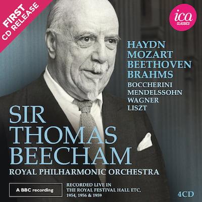 Sir Thomas Beecham: Royal Philharmonic Orchestra Live in the Royal Festival Hall, 1954-1959 = Symphonic Works by HAYDN; BOCCHERINI; MENDELSSOHN; MOZART; BEETHOVEN; BRAHMS; WAGNER; LISZT – ICA Classics