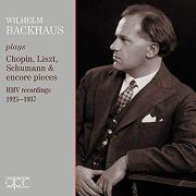 Wilhelm Backhaus, Piano, Album Cover