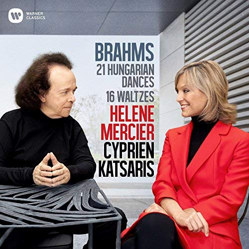 BRAHMS: 16 Waltzes; 21 Hungarian Dances – Helene Mercier and Cyprien Katsaris, piano – Warner Classics