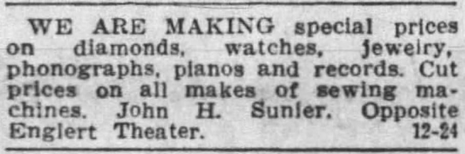 2/24/1929 Iowa City Press-Citizen: Sunier Jeweler 2