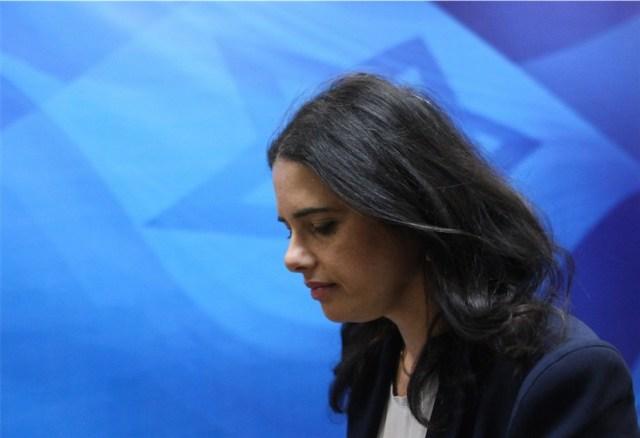 Justizministerin Ajelet Schaked. Foto Alex Kolomoisky / Flash90