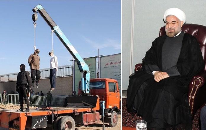 Unter der Regierung Rohani ist die Anzahl der Menschenrechtsverletzungen massiv gestiegen. Zudem richtete der Iran mehr als 830 Strafgefangene hin, was einen sprunghaften Anstieg gegenüber den Vorjahren darstellt. Foto Gatestone