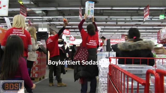 "BDS ""Aktivisten"" in Berlin. Foto Screenshot Youtube"