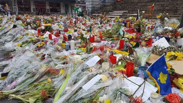 Trauer in Brüssel nach dem Attentat auf den Flughafen am 22. März 2016. Foto Romaine, CC0.