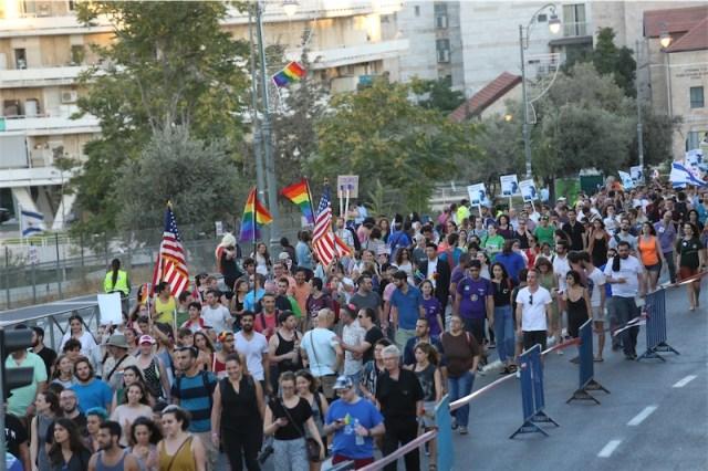 Jerusalem Gay Pride Parade. Foto Hillel Maeir/TPS