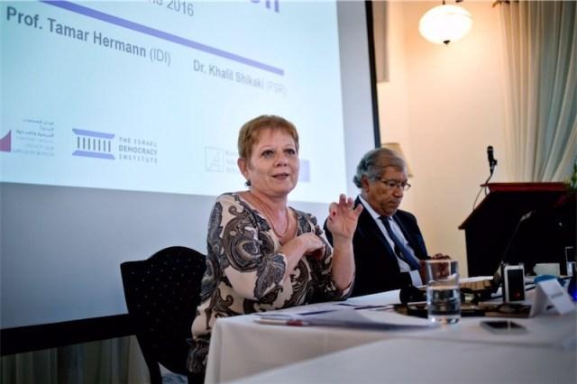 Pressekonferenz zur Umfrage über eine Zwei-Staaten-Lösung für den israelisch-palästinensischen Konflikt. Foto Konrad-Adenauer-Stiftung