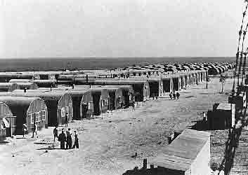 Lager für jüdische Flüchtlinge auf Zypern, die von den Briten nicht nach Palästina gelassen wurden. Foto USHMM Photo Archives