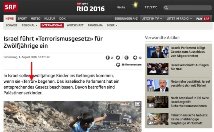 Screenshot www.srf.ch 08.08.2016
