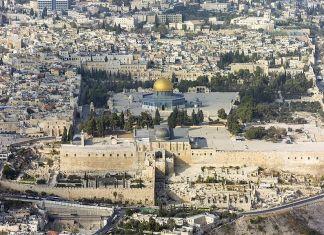 Eine Luftaufnahme des Tempelbergs in Jerusalem und ein Blick auf die Altstadt. Foto Andrew Shiva/Wikipedia, CC BY-SA 4.0, Wikimedia Commons.