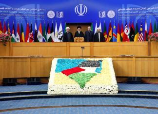 """Sechste """"Internationale Intifada-Konferenz"""" in Teheran. Foto khamenei.ir"""