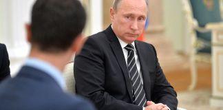 Bashar al Assad im Oktober 2015 zu Gast im Kremlin. Foto Kremlin.ru, CC BY 4.0, Wikimedia Commons.