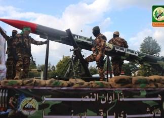 """Hamas militärische Stärke wieder auf dem Stand von vor 2014. Kundgebung der """"Al-Qassam-Brigaden"""" im Januar 2017. Foto Al-Qassam Website."""