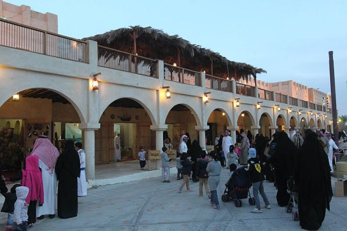 Heritage Village des Saudi Aramco Kulturprogrammes. Foto Abdallah Abu Ihlaiel, CC BY-SA 3.0, Wikimedia Commons
