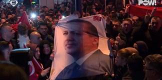Pro-Erdogan Demonstration in Rotterdam im März 2017. Foto Screenshot Youtube