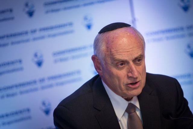 Malcolm Hoenlein, der Leiter der Konferenz der Vorsitzenden der grössten jüdischen Organisationen in den USA. Foto Hadas Parush/Flash 90