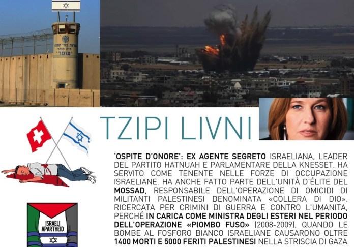 Flyer mit dem Aufruf gegen den Besuch von Frau Livni. Foto zVg