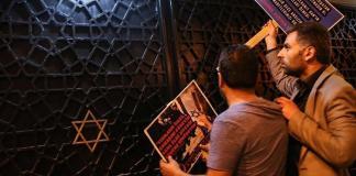 Angriff auf eine Synagoge in der Türkei 2017. Foto Screenshot Youtube