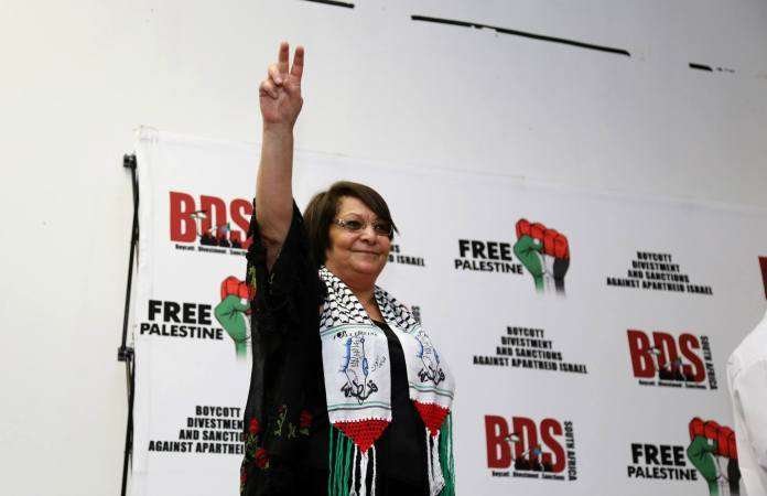Leila Khaled. Foto BDS South Africa/Facebook