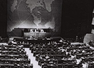 Die UN stimmte am 29. November 1947 über den Teilungsplan ab. Foto Government Press Office, Jerusalem.